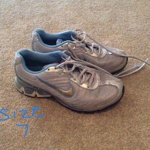 Silver & Blue Nike Sneakers